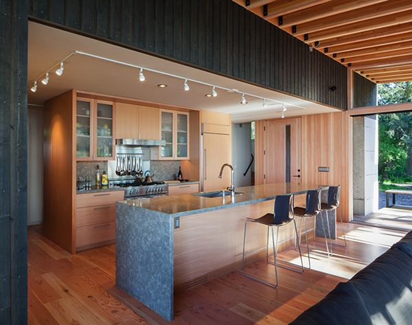 Fascinating Waterfront Retreat On Picturesque Orcas Island Home Building Design Interior Design Contemporary Kitchen