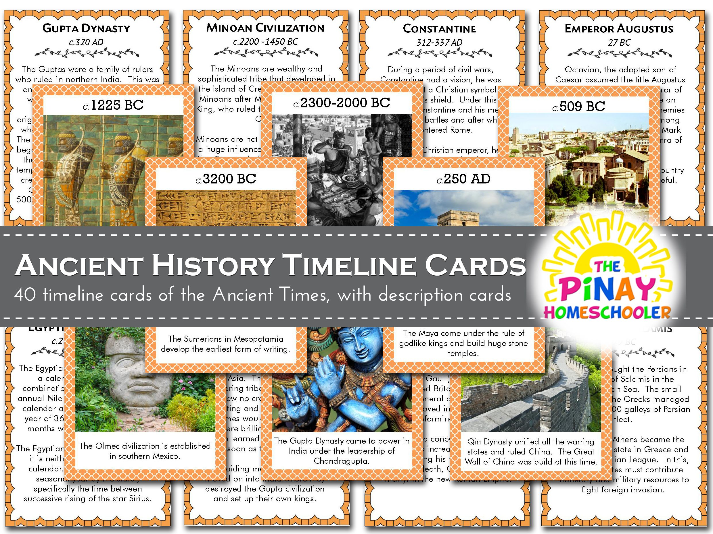 History Timeline Cards Ancient Times