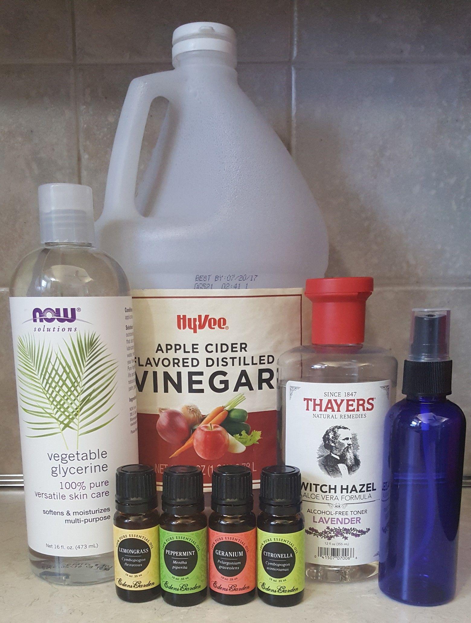 DIY Homemade Natural Bug Repellent Spray Peppermint