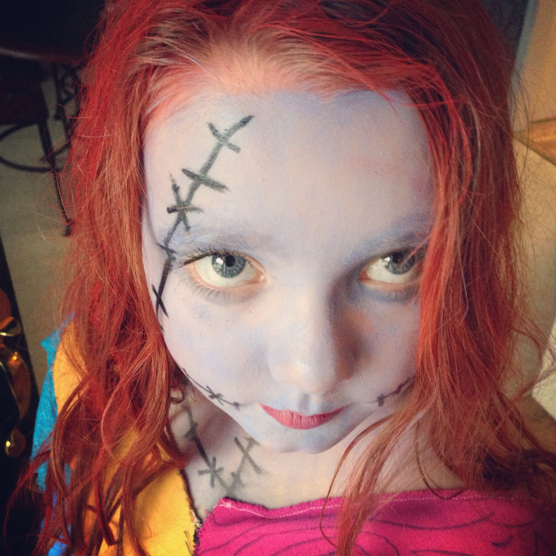 Sally make up from nightmare before Christmas Nightmare