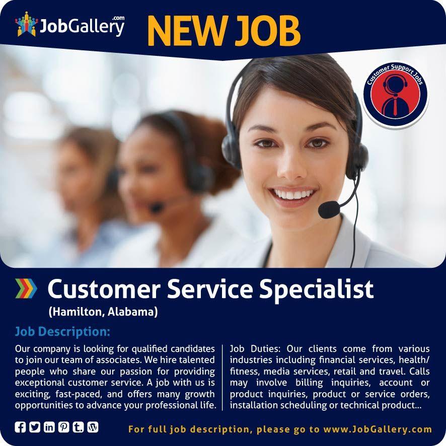 SEEKING A CUSTOMER SERVICE SPECIALIST - HAMILTON, AL #jobs - call center manager job description