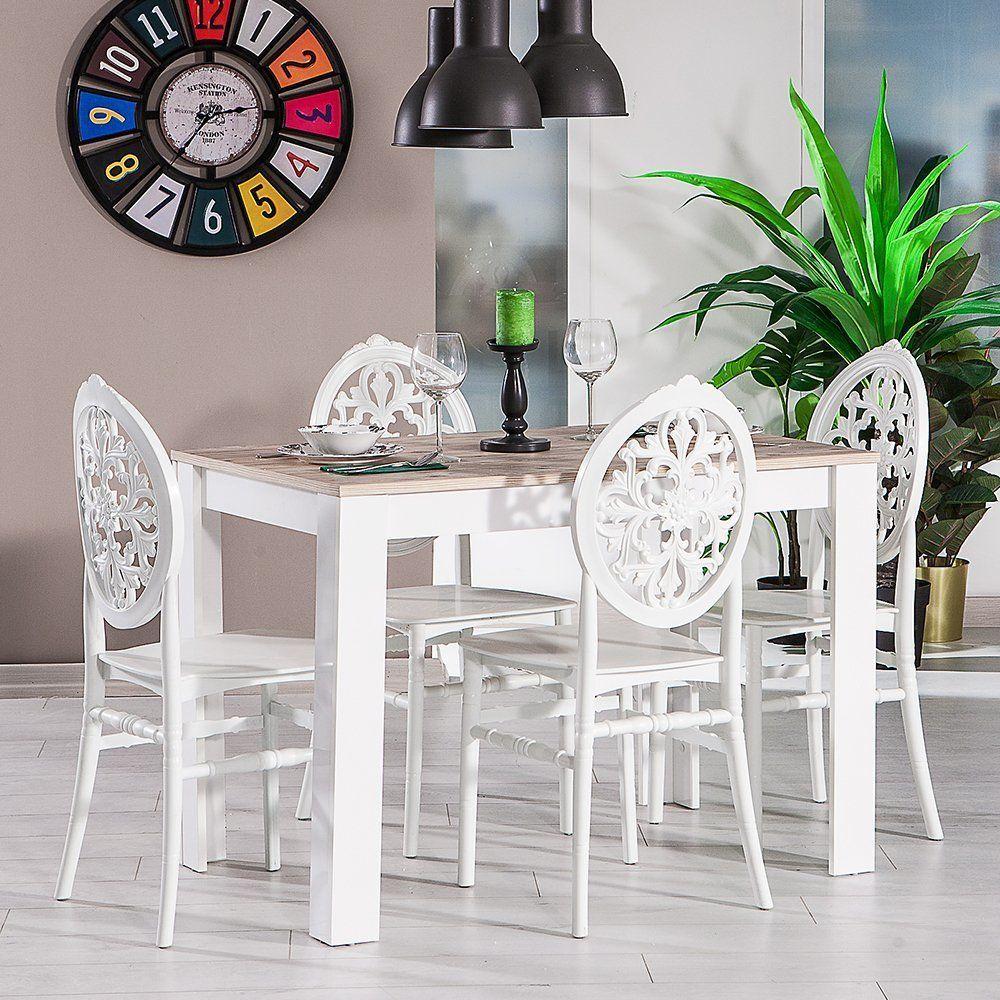 mars 4 kisilik sandalyeli yemek masasi mutfak balkon masa ev dekoru mobilya dolaplar