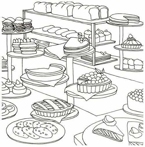 ONLY BAKERY Bread Food Coloring Book For Adult Painting ANTI ...