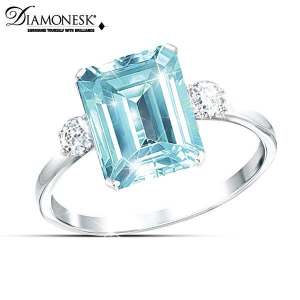 aqua allure princess diana and meghan markle tribute ring diana ring women rings blue rings princess diana and meghan markle