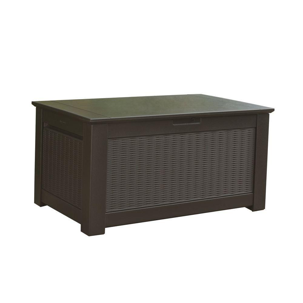 Rubbermaid Bridgeport 93 Gal Resin Storage Bench Deck Box 1875233