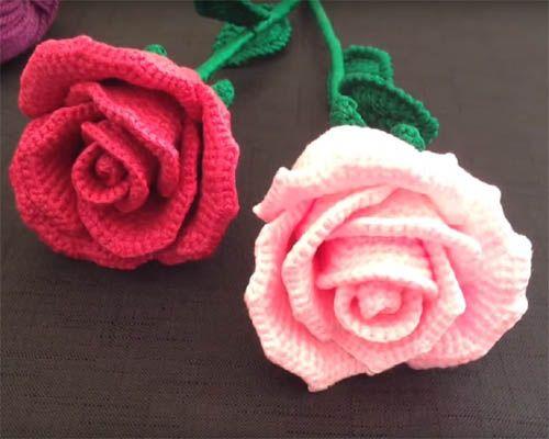 How To Crochet A Rose Easy Tutorial Beautiful Skills Crochet