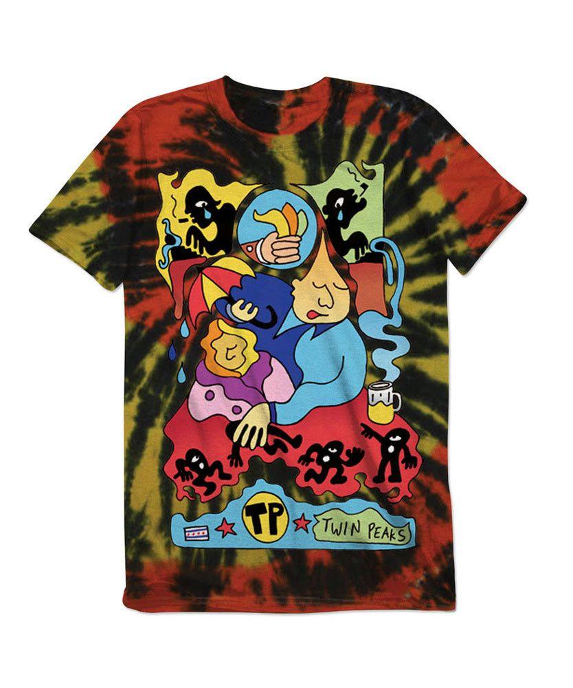 Tie Dye T Shirt Tie Dye T Shirts Twin Peaks Merch Twin Peaks Band