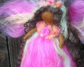 Needle felted Fuchsia Delight Fairy Waldorf inspired By Rebecca Varon - blessing angel