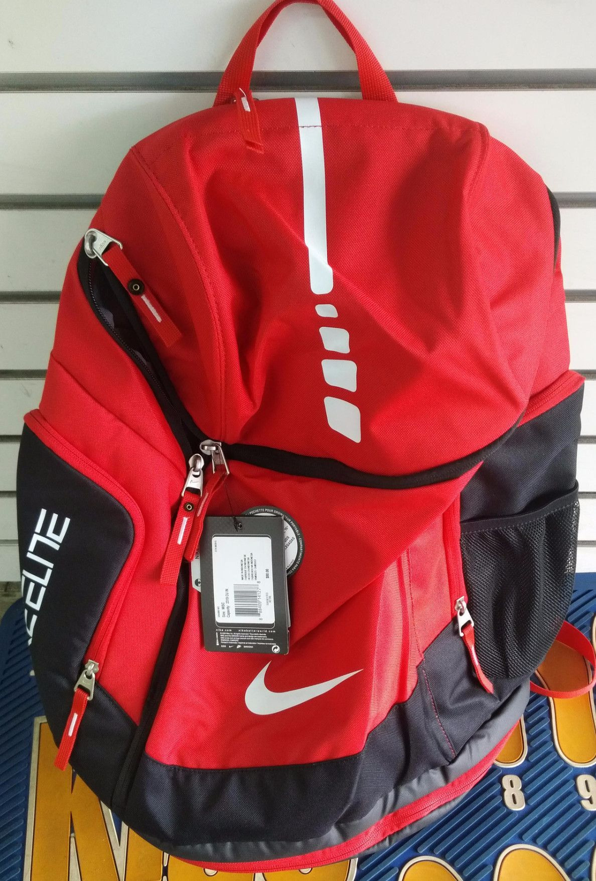 nike elite red backpack