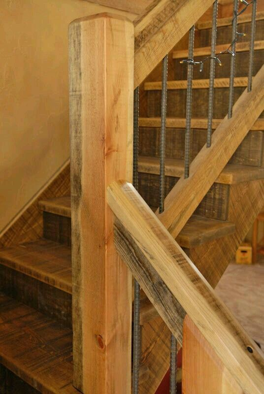 Rustic Mountian Stair Railings: This Would Be Awesome For Railing On The Deck.
