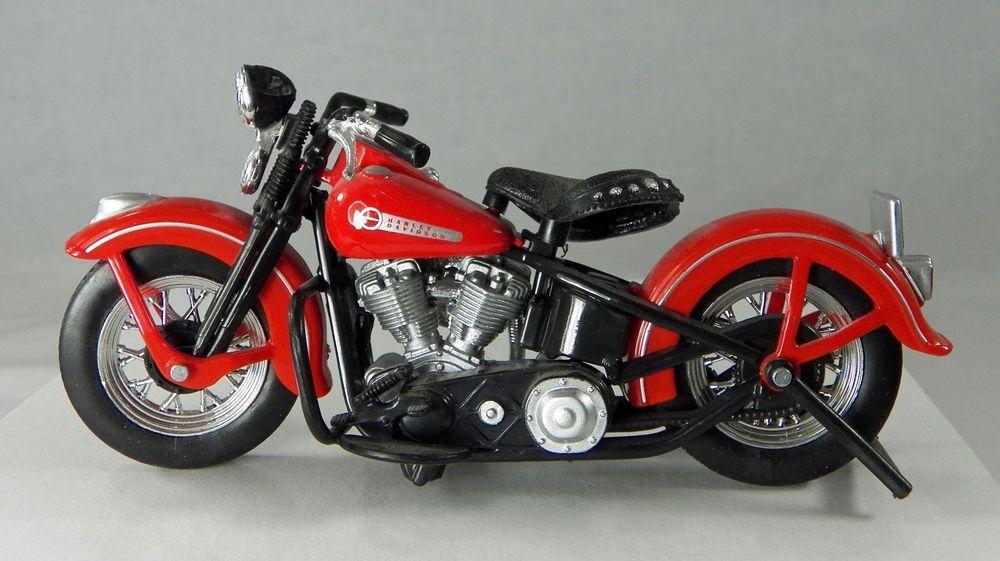 Maisto Harley Davidson Miniature Motorcycle Vintage Model Red 5