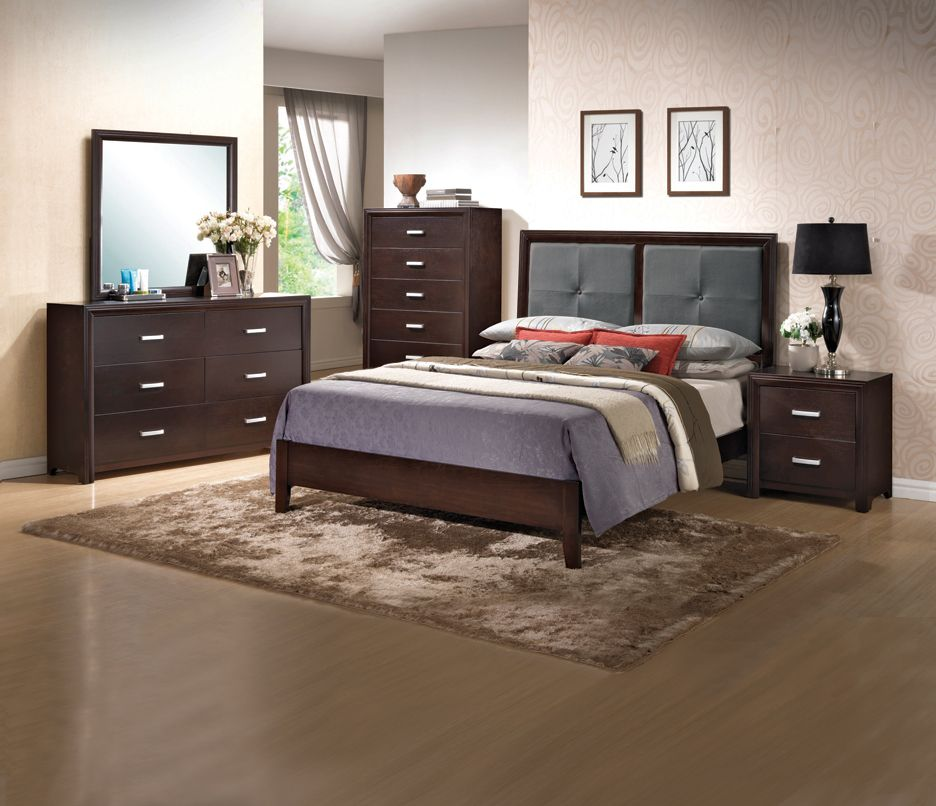 Contemporary Bedroom Set London Black By Acme Furniture: Coaster Contemporary 6-piece Bedroom Package. Find More At