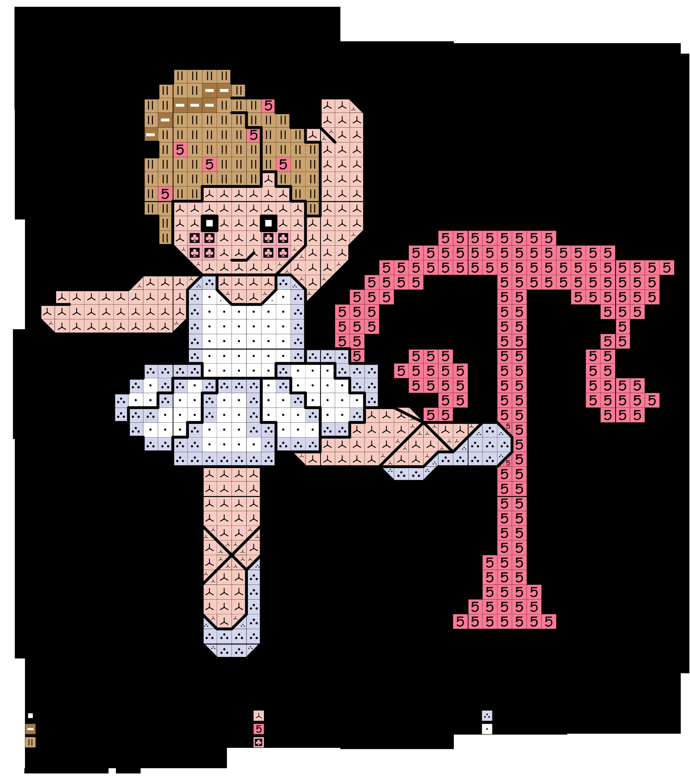 alfabeto con ballerine: T