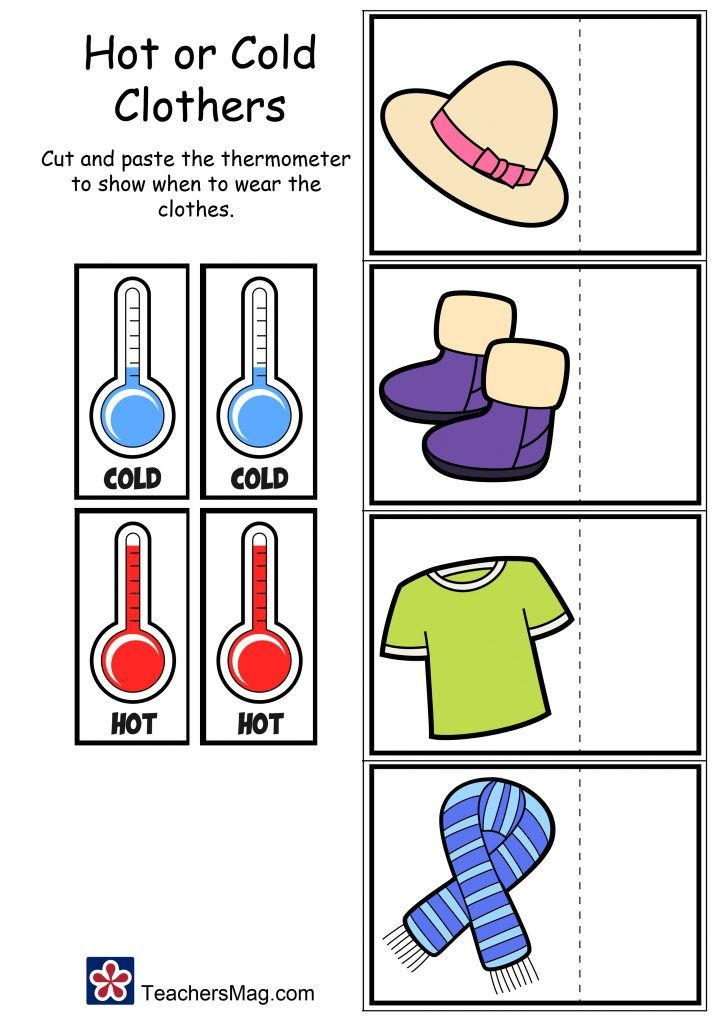 Temperature Worksheets: Hot or Cold? (With images ...