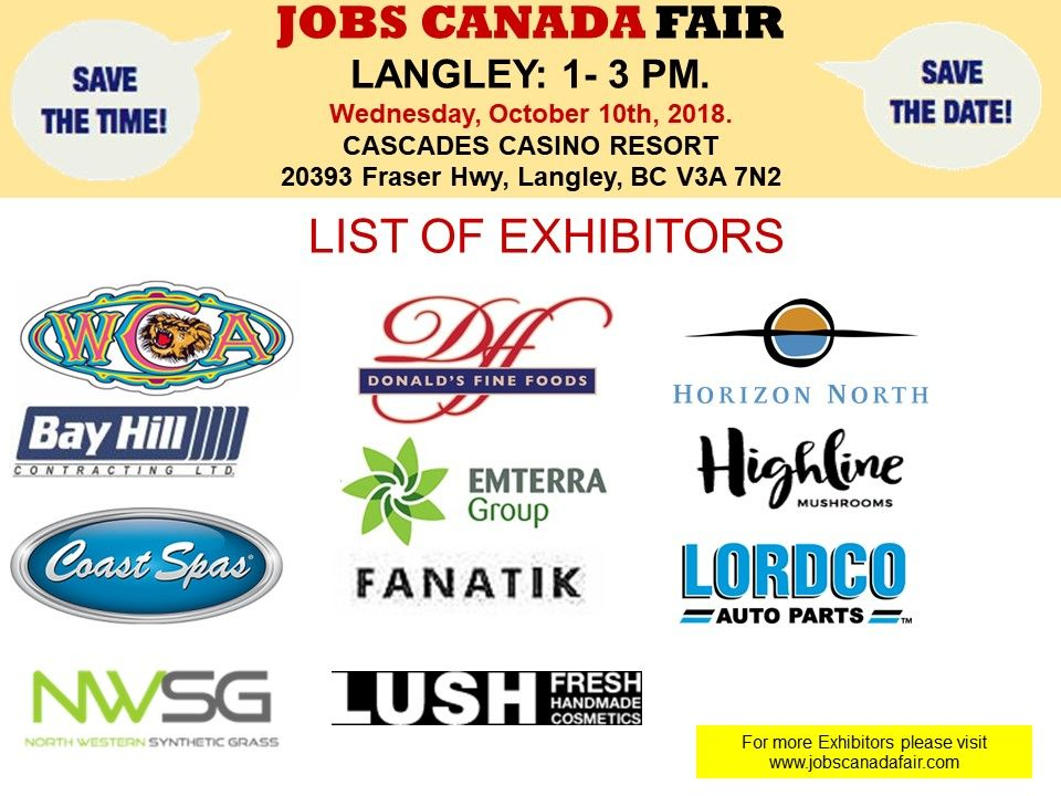 List of Hiring Companies for Langley Job Fair October