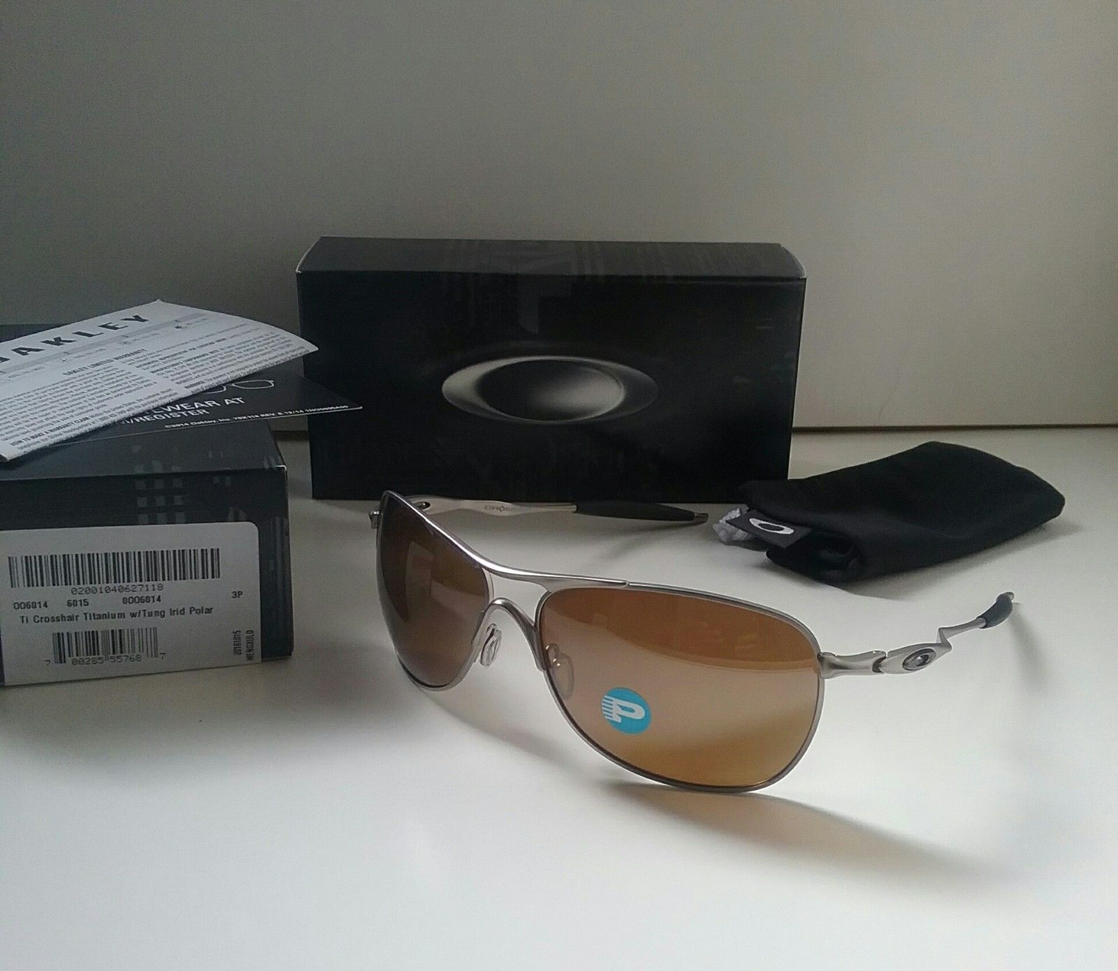 c6093b0b5e óculos Oakley Crosshair Titanium Tungsten Iridium Polarized « One ...