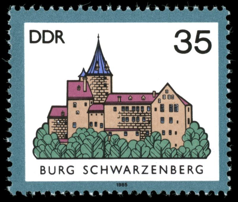 Germany (DDR) 1985 Burg Schwarzenberg (Sachsen) Ddr