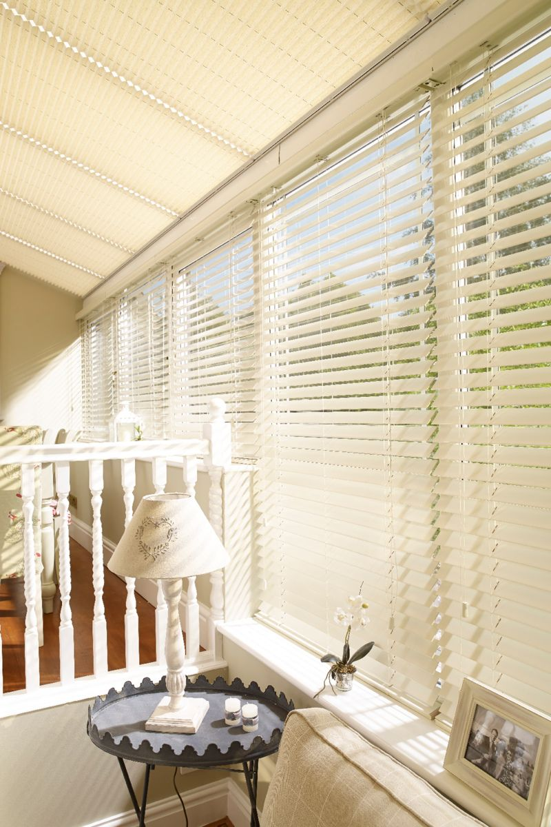 Venetian blinds can help create privacy and let the light the in