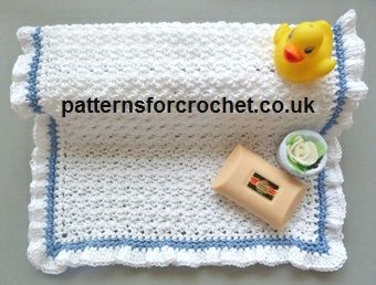 Frilled Washcloth by Patterns For Crochet