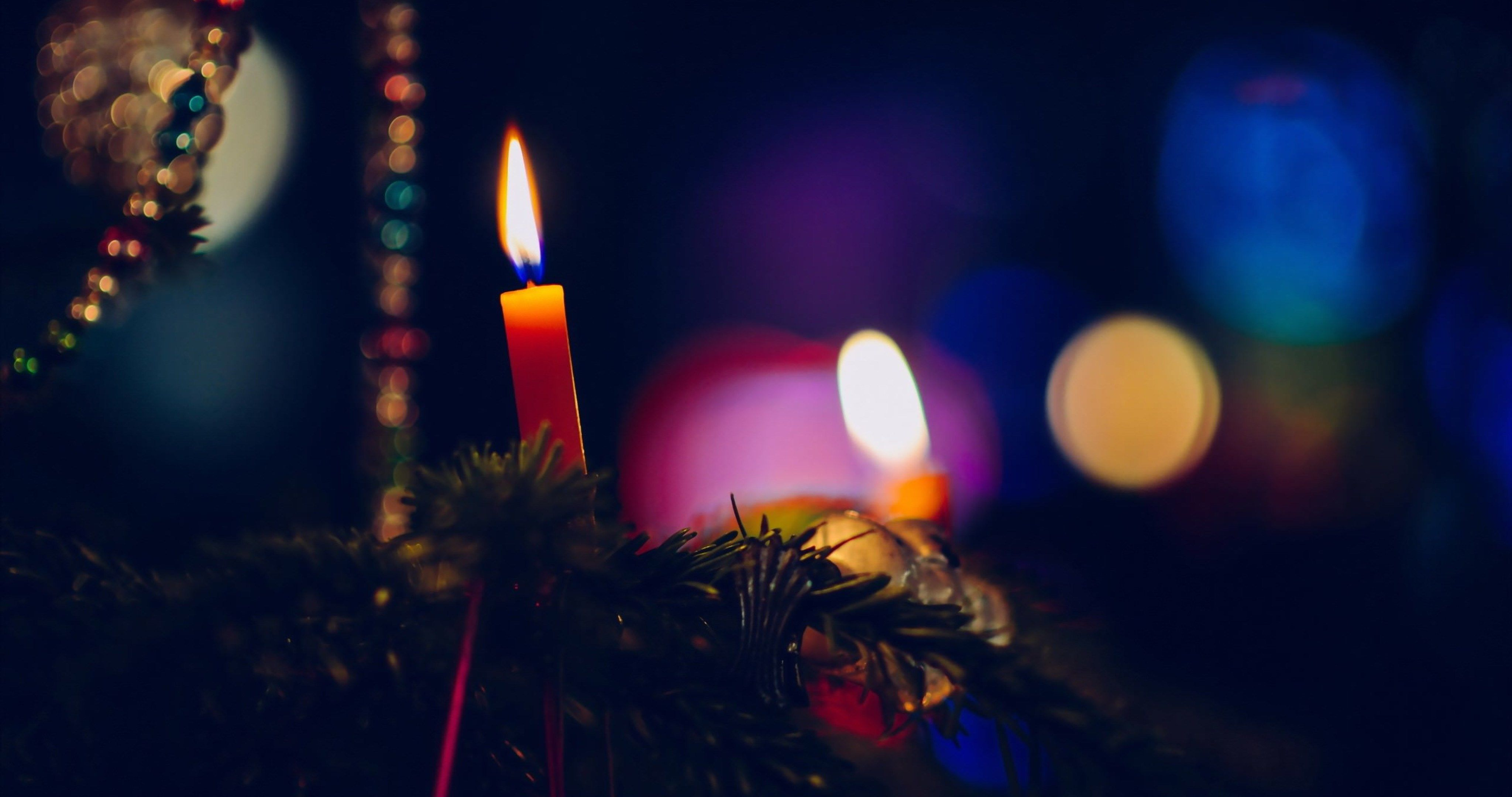 New Year Celebration Wallpaper 4k Ultra Hd Wallpaper Halloween Backgrounds Christmas Tree Candles Christmas Scenes