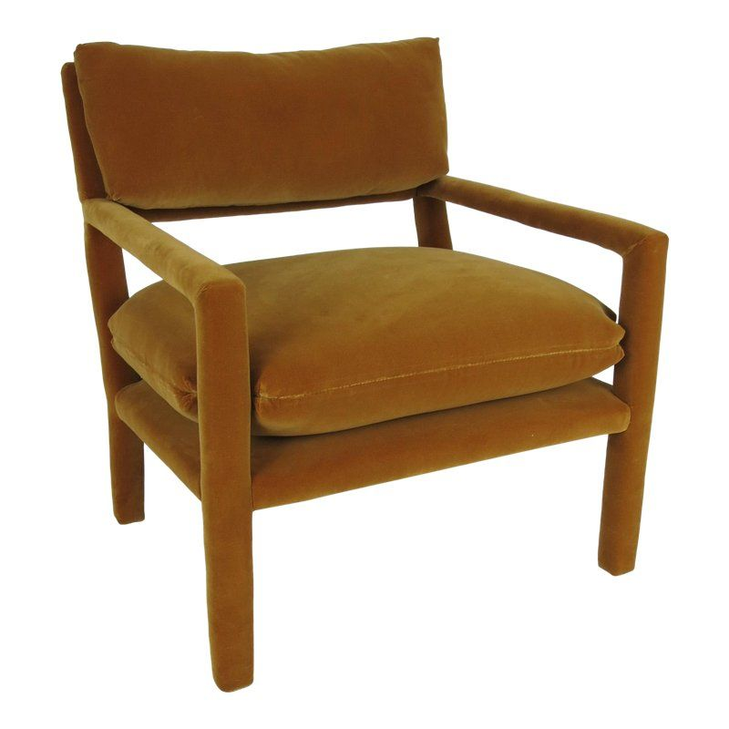 Mcm Baughman Accent Chair: Fully Upholstered Open-Arm Lounge Chair By Milo Baughman