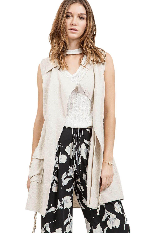 Sleeveless textured vest best sellers pinterest clothing