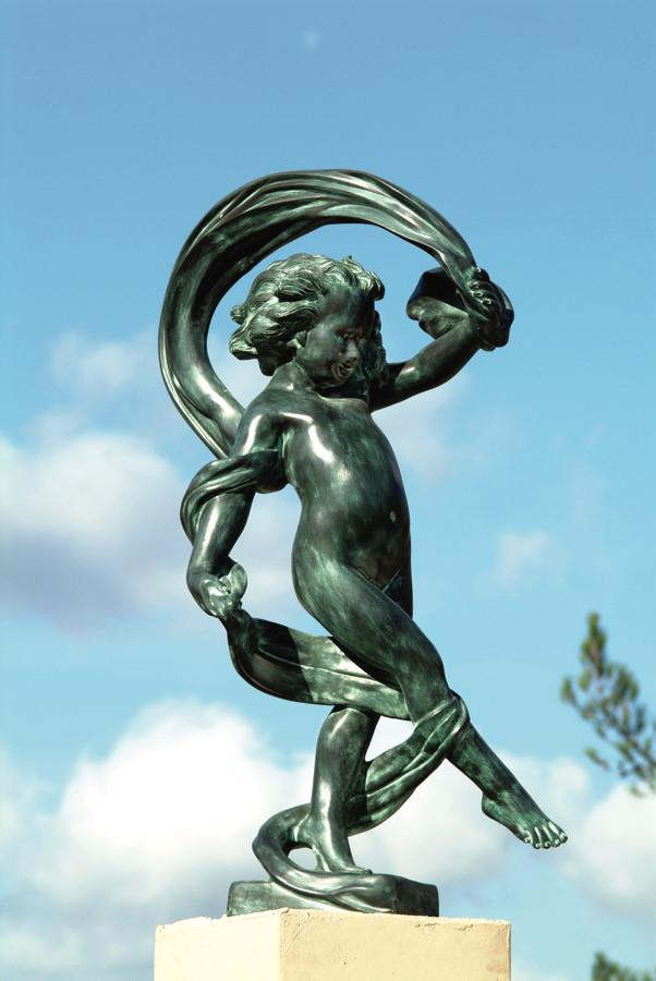 Dancing In The Wind Brass Garden Statue