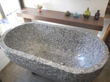 Custom Hand Carved Granite Soaking Tub Contemporary Bathtubs