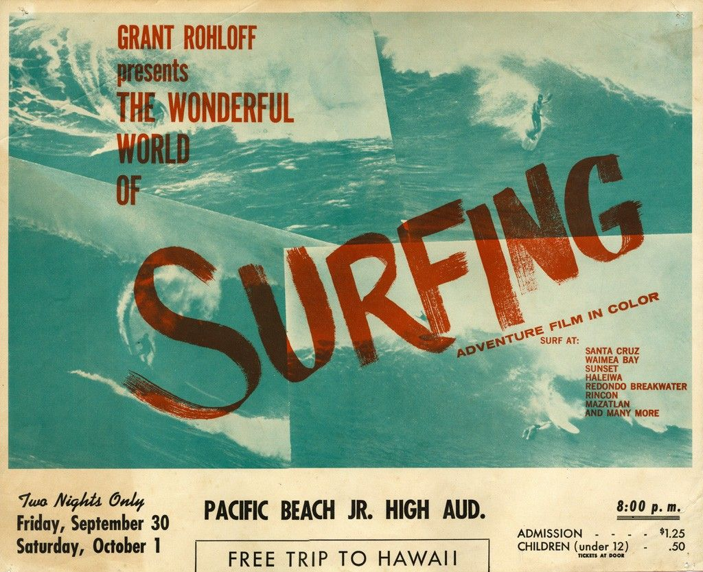 The Wonderful World Of Surfing 1960 Surf Classics Surf Poster Vintage Surf Surfing