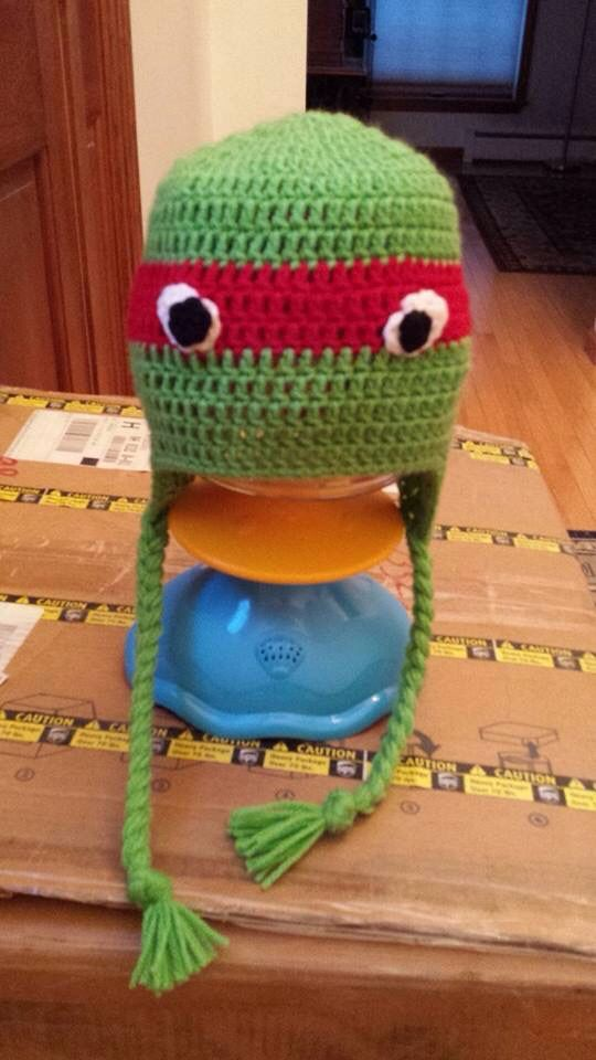 """Teenage Mutant Ninja Turtle"" crocheted by Erin!"