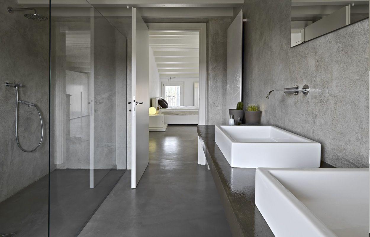 Muurverf Badkamer Betonlook : Betonlook badkamer badkamer pinterest badkamer badkamers en