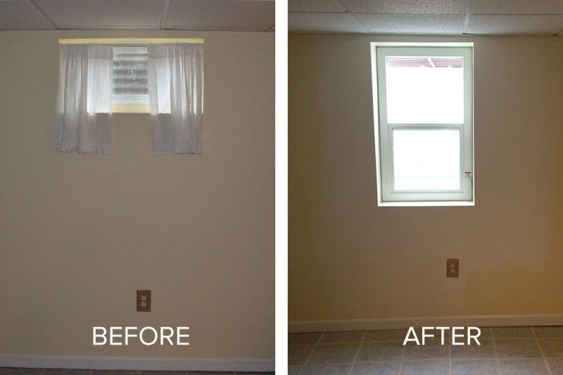 Egress Before After Egress Window Basement Guest Rooms Basement Remodeling