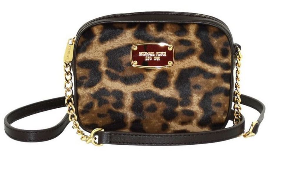 2fdcc61ad244 Michael Kors Hamilton Crossbody Purse Cheetah Leopard Calf Hair 35F4GHMC1HL