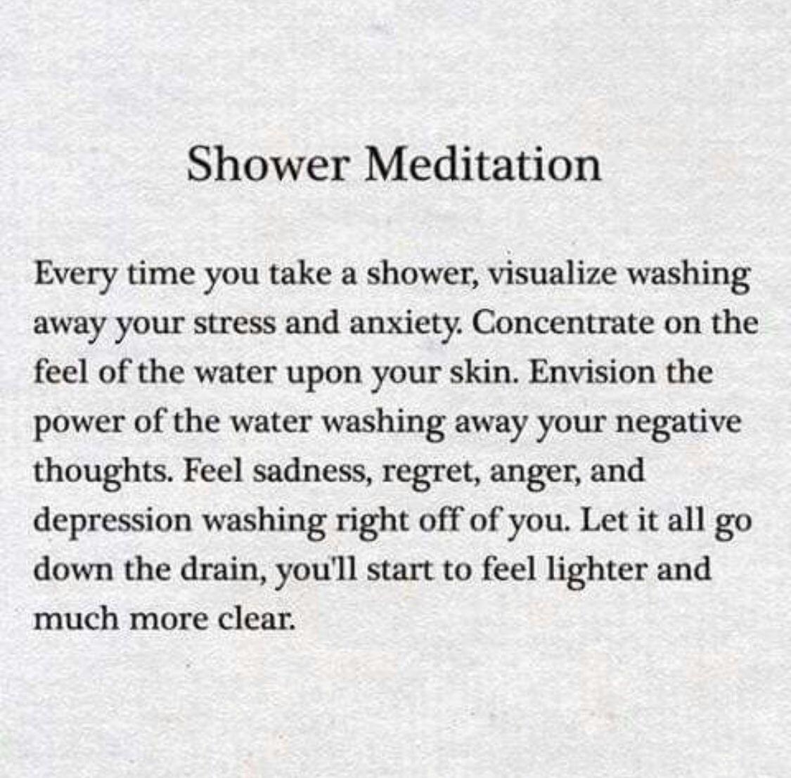 Shower Meditation