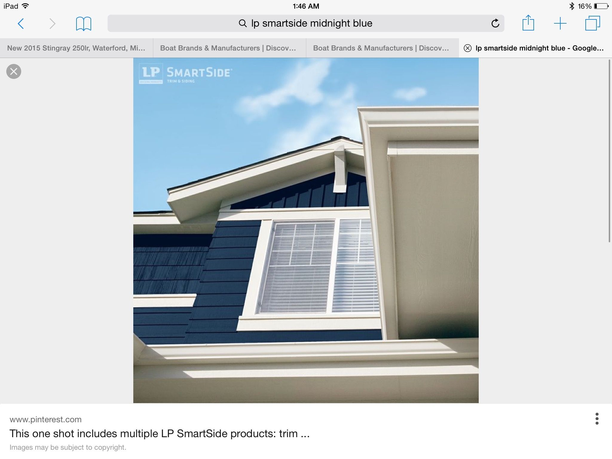 Midnight Blue Siding From Lp With Lots Of White Trim To Balance Blue Siding Siding Trim Siding Options