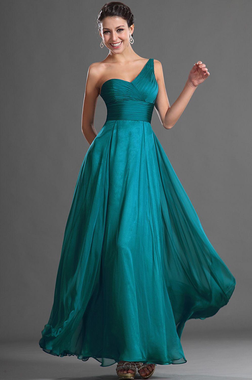 Edressit Glamorous One Shoulder Evening Dress 00127005 Teal Bridesmaid Dresses Summer Evening Dress Fall Fashion Dresses [ 1500 x 996 Pixel ]