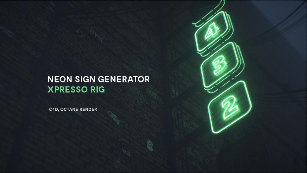 Sign Generator Xpresso Rig Neon Signs Neon Sign Generator Cinema 4d