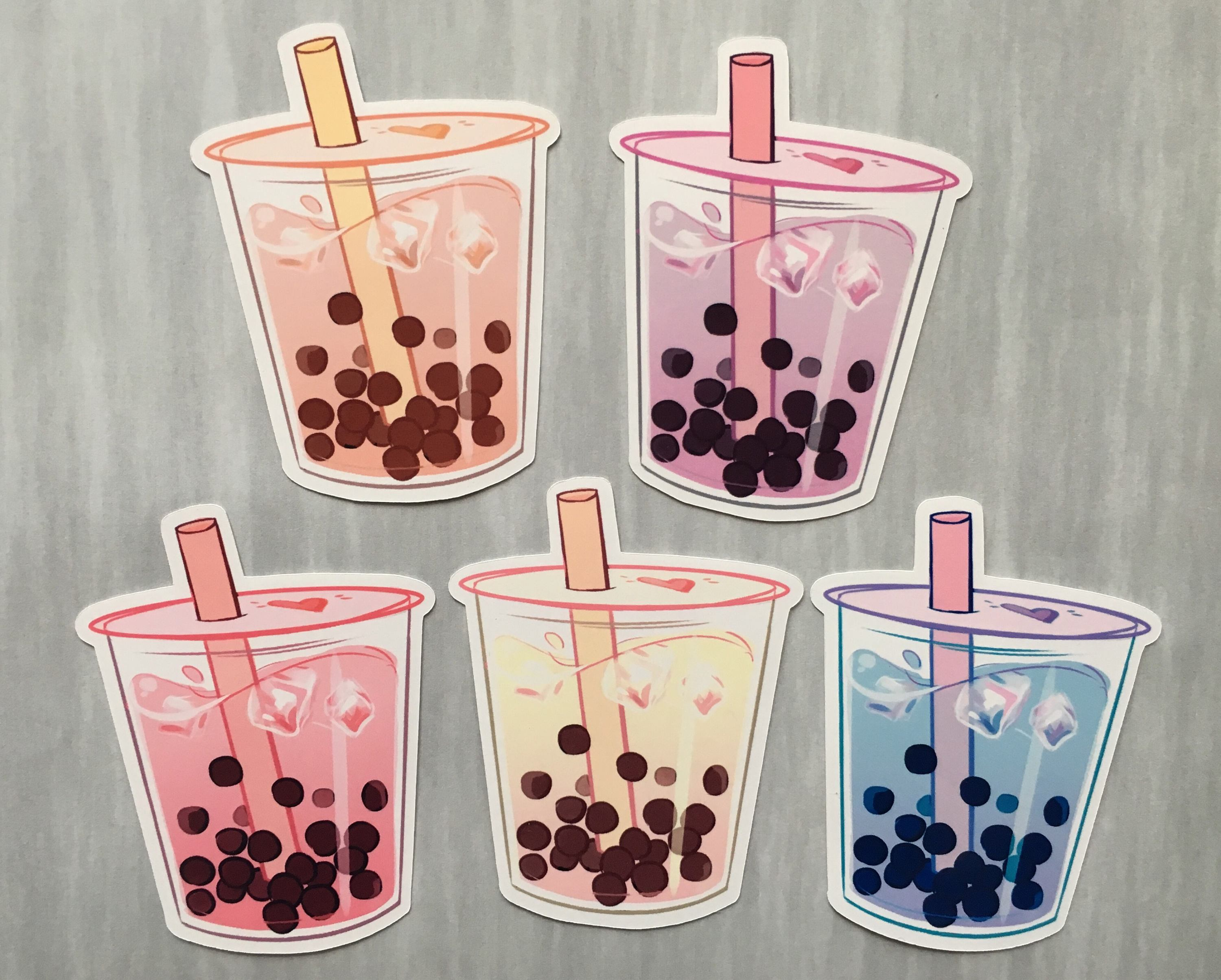 It's just a graphic of Lucrative Boba Tea Drawing