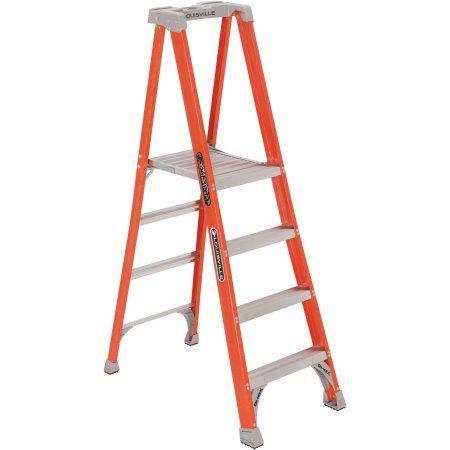Louisville Ladder 4 Fiberglass Platform Ladder 300 Lbs