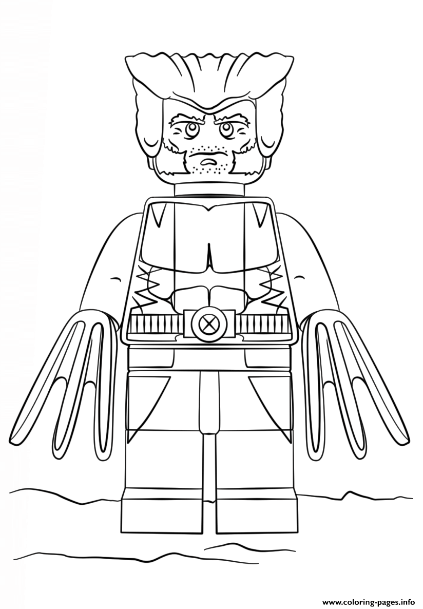Print Lego Wolverine Coloring Pages Lego Coloring Pages Lego Coloring Superhero Coloring Pages