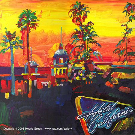 Eagles Hotel California Pop Art Album Cover Painting By Howie