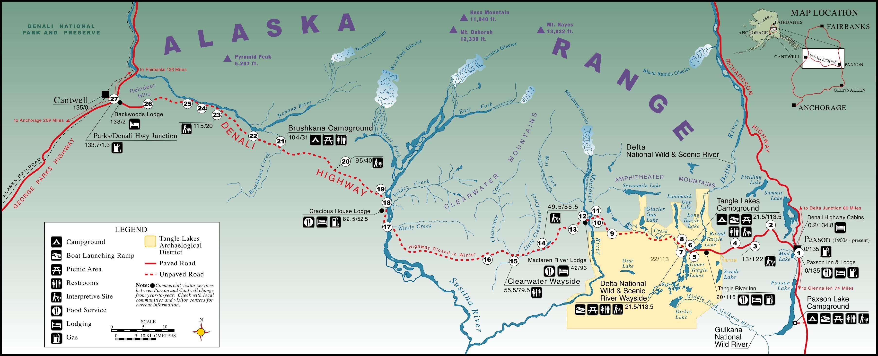 Denali Highway Map Click here Alaska 2018 Pinterest Highway