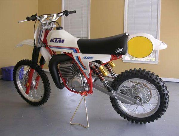 1981 Ktm 495 Vintage Motocross Motocross Bikes Vintage Bikes