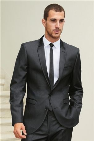 Men Charcoal Suits Natural Linen Ties