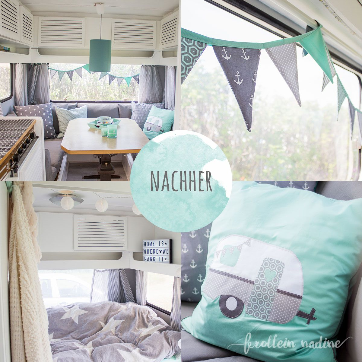 caravanmakeover nachher bild wohnwagenliebe pinterest wohnwagen wohnmobil und bilder. Black Bedroom Furniture Sets. Home Design Ideas