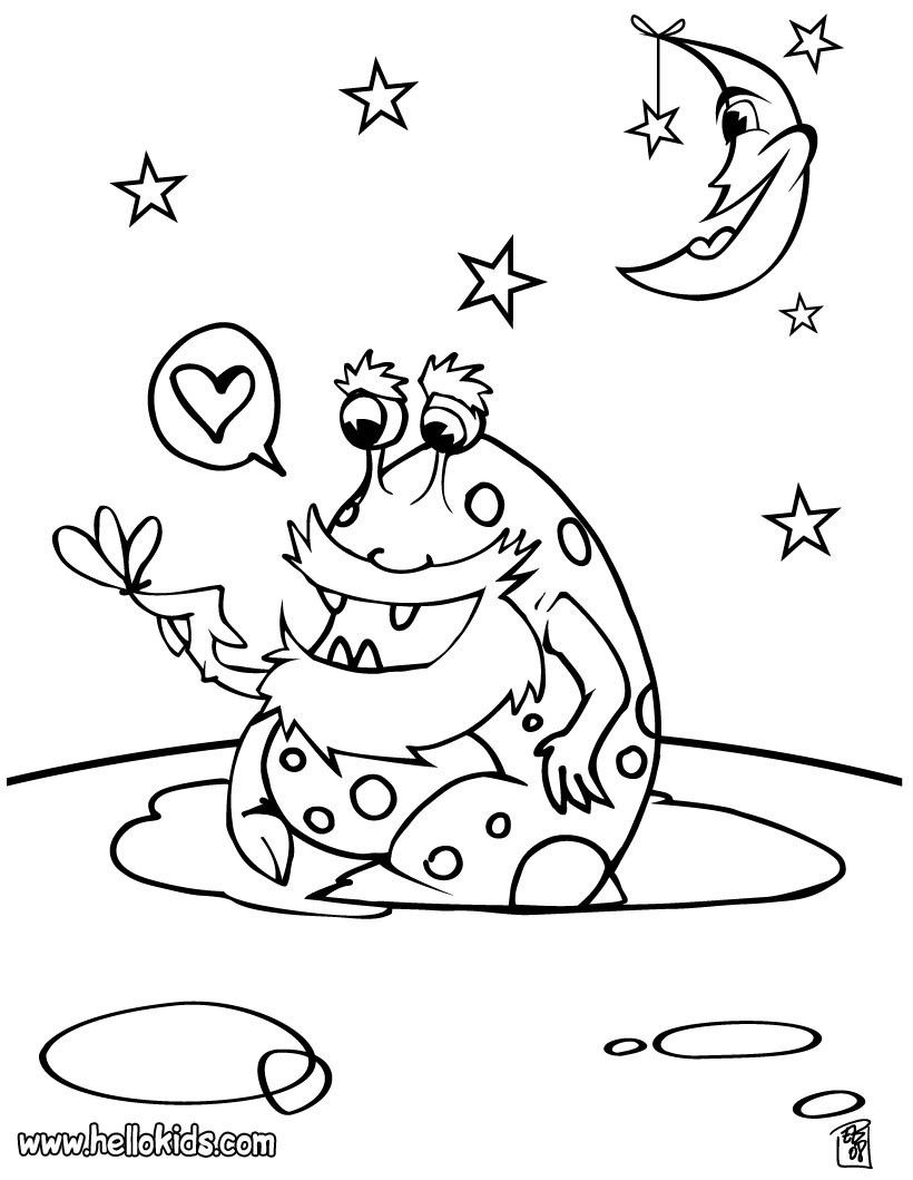 Coloring Pages. Alien Coloring Page Alien Monster Coloring Pages Ben ...