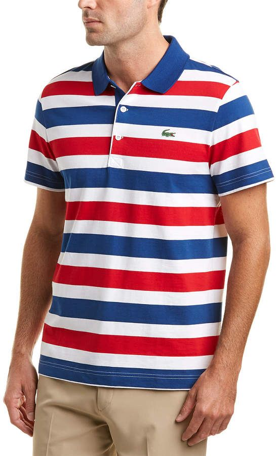 Lacoste Sport Jersey Raye All Over Stripes Polo   Polo   Pinterest ... 42fa59c53951