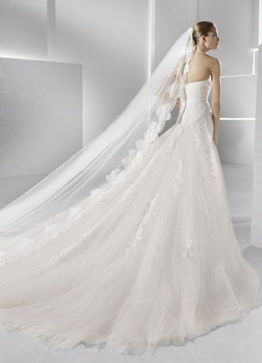 La Sposa wedding gown and veil        WhatnotGems