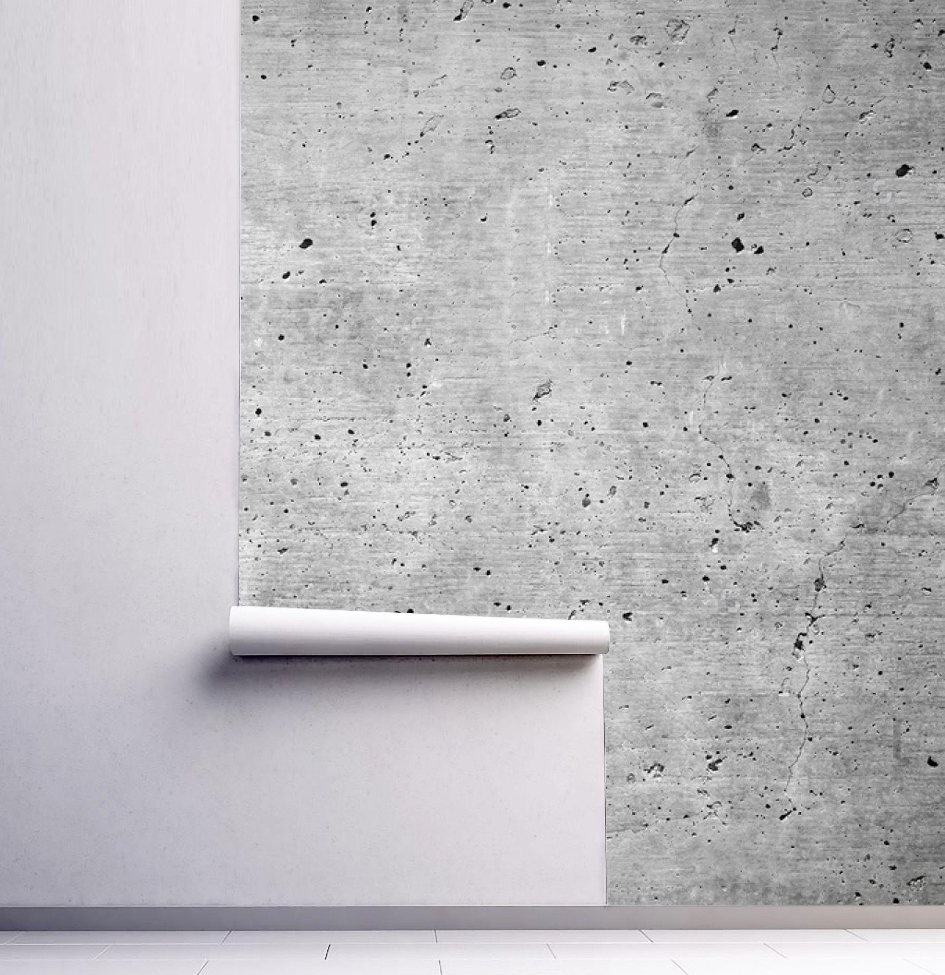 Wallpaperpeel Stickconcreteindustrialremovablebetonloft Etsy Mural Wall Murals Wall Decals