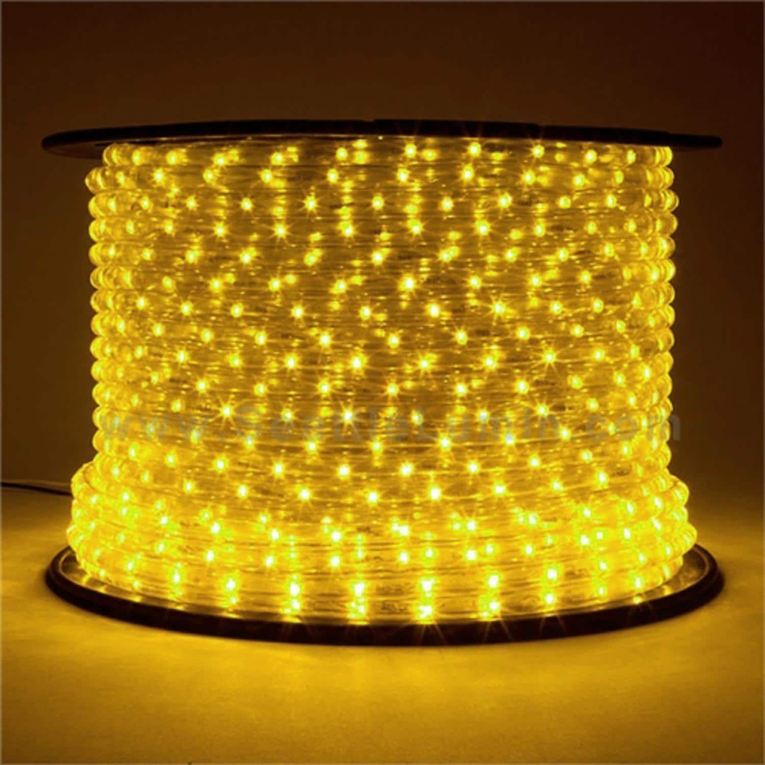 150\' Commericial Grade Yellow LED Indoor/Outdoor Christmas Rope ...